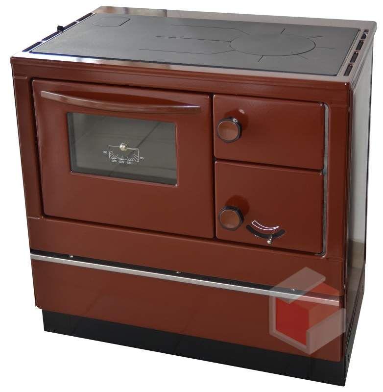 Thorma OKONOM 85 FIKO De Luxe hnědý - sporák na tuhá paliva 85 De Luxe hnědý levý