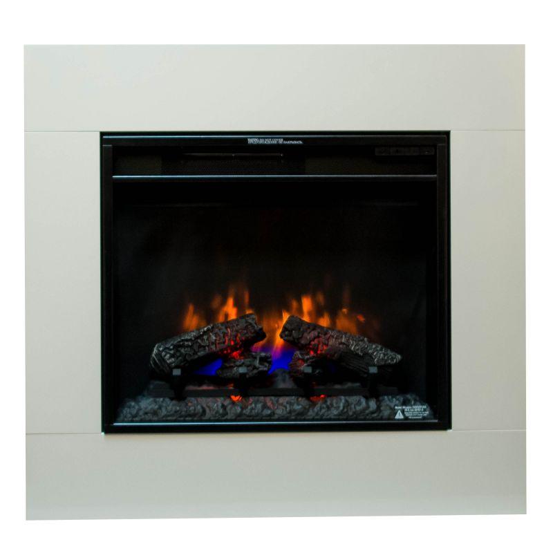 Classic Flame SIMO white - elektrický krb s ostěním