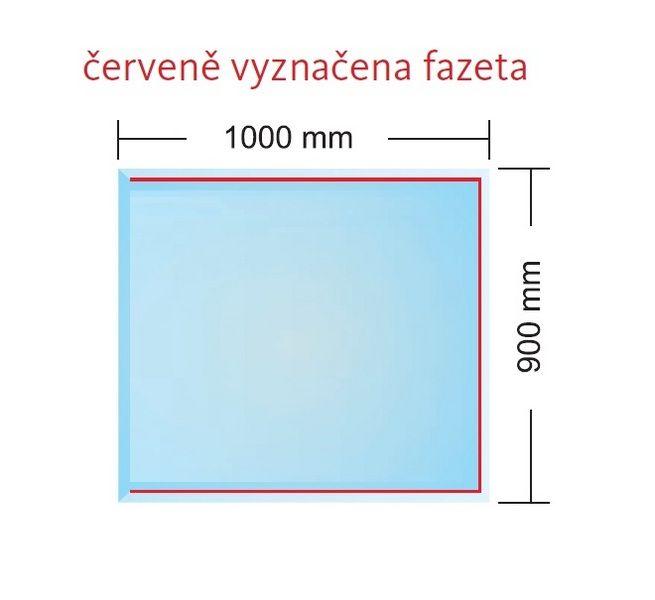 Podkladové sklo pod kamna BERLIN 6 mm