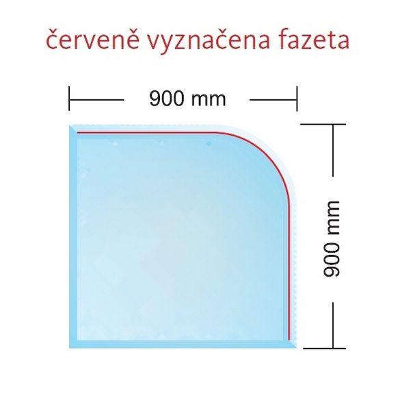 Banador Sklo pod kamna Paris 6 mm , rozměr 90 x 90 cm