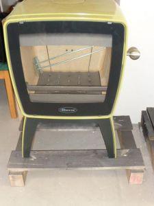 Zvětšit fotografii - Vintage 35/E9 TB smalt zelený - kamna litinová