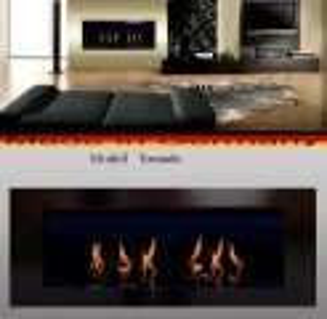 Zvětšit fotografii - Tornádo černý 110 x 40 cm - bio krb s závěsný