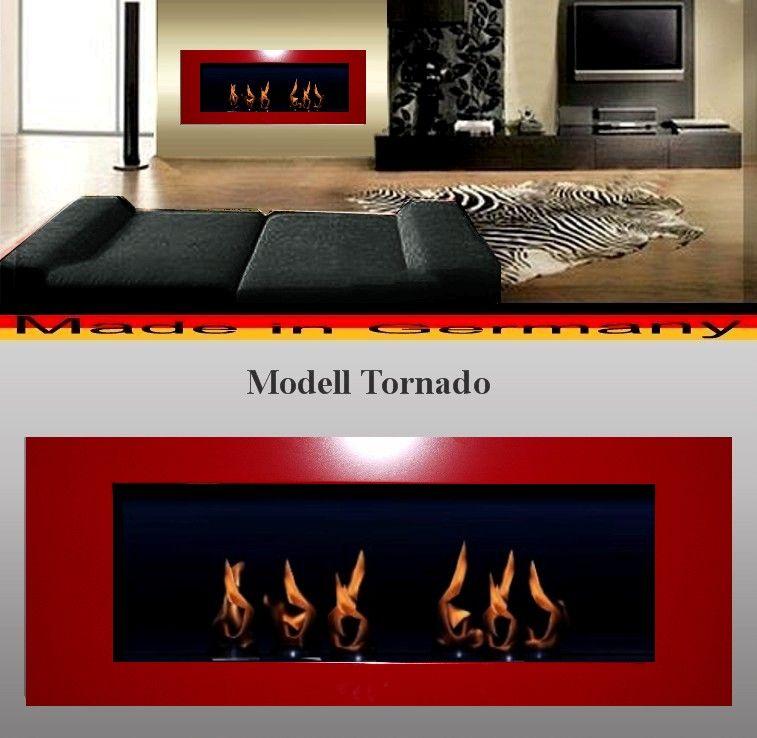 DF Tornádo červený 110 x 40 cm - bio krb závěsný