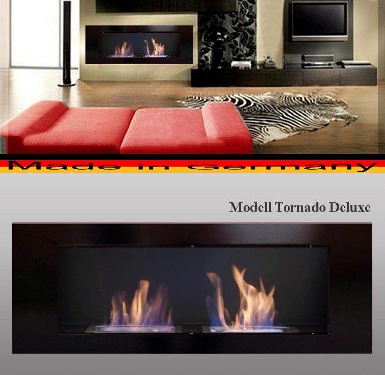 DF Tornádo Deluxe černý 110 x 40 cm - bio krb závěsný