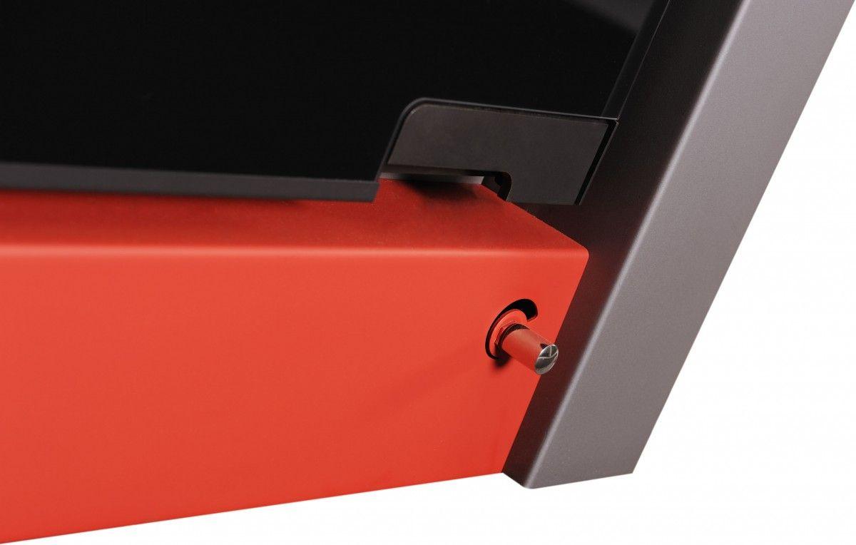Krbová kamna AQUAFLAM VARIO ® - LEND 11/5kW červená, elektronická regulace