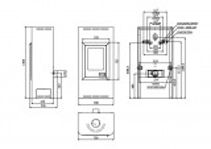 Krbová kamna AQUAFLAM 12 s výměníkem - šedá, automatická regulace HS Flamingo odborný prodejce levně!