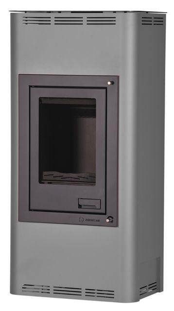 Krbová kamna AQUAFLAM 7 s výměníkem - šedá, manuální regulace HS Flamingo odborný prodejce levně!