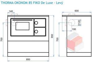Thorma OKONOM 85 FIKO De Luxe krémový - sporák na tuhá paliva odborný prodejce levně!