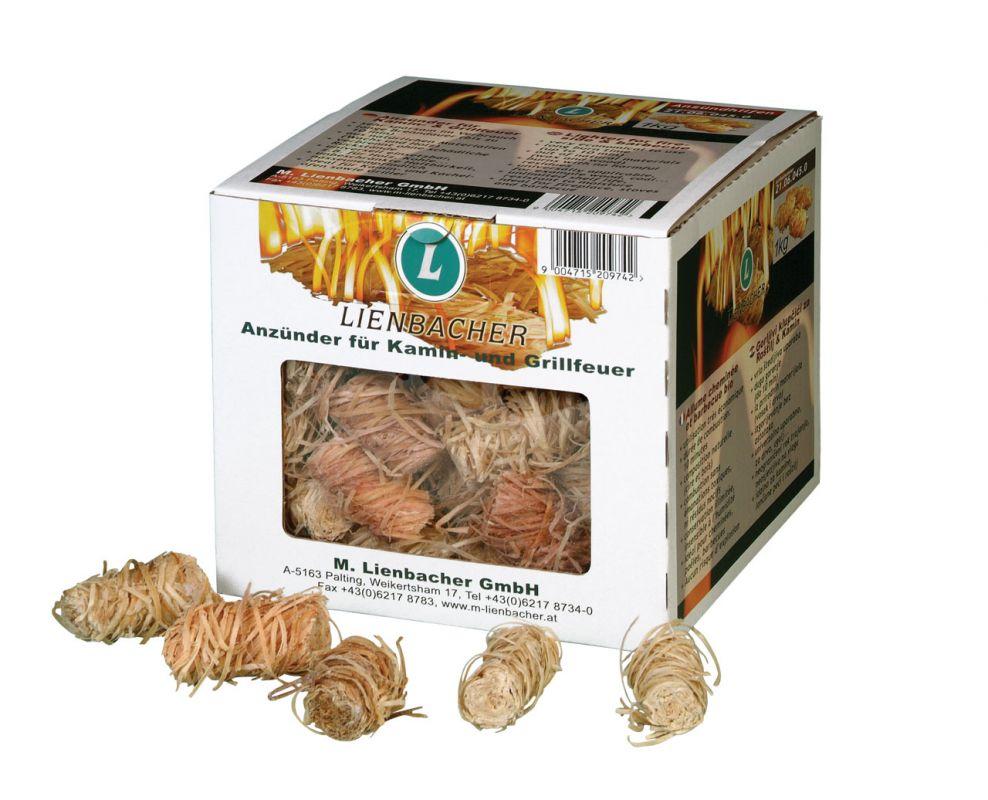 Ekologický podpalovač - 1 kg smotky v krabici Lienbacher odborný prodejce levně!