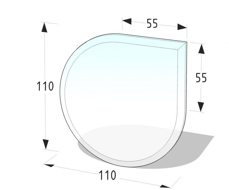 Sklo pod kamna - kapka 110 x 110 cm, tl. 8 mm Lienbacher odborný prodejce levně!