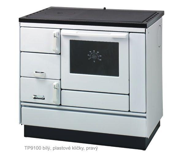 KVS Moravia VSP 9100 bílý - sporák na tuhá paliva, ZDARMA DOPRAVA odborný prodejce levně!