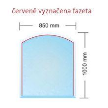 Sklo pod kamna Madrid 6 mm , rozměr 85 x 100 cm Banador odborný prodejce levně!