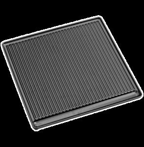 Litinová grilovací deska vroubkovaná velká