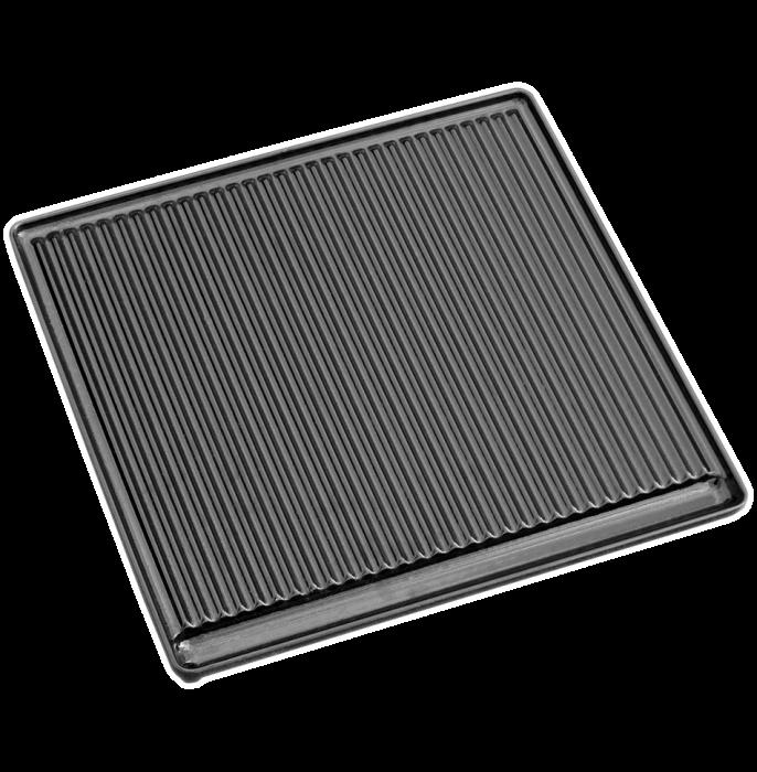 Litinová grilovací deska vroubkovaná velká Plamen odborný prodejce levně!