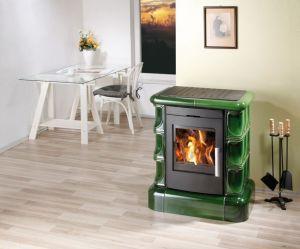 Haas+Sohn MANTA kachlová římsa, černá, zelená kachle - kamna odborný prodejce levně!
