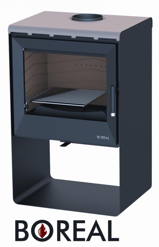 Boreal E2004 metalická béžová - kamna krbová odborný prodejce levně!