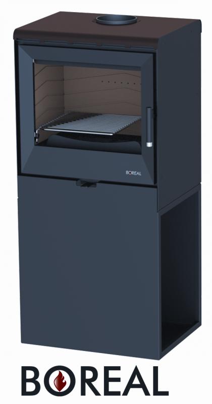 Boreal E3003 moka - kamna krbová, VÝSTAVNÍ KUS odborný prodejce levně!