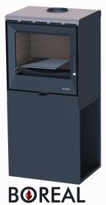 Boreal E3004 metalická béžová - kamna krbová, AKCE