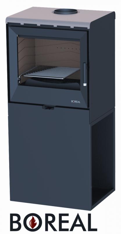 Boreal E3004 metalická béžová - kamna krbová, AKCE odborný prodejce levně!
