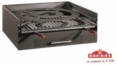 Zahradní BBQ gril na dřevěné uhlí BP-45 Bronpi odborný prodejce levně!