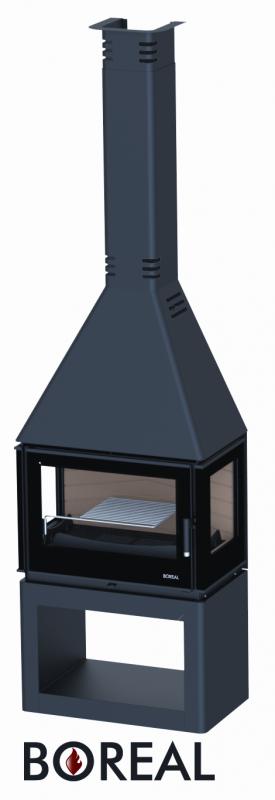 Boreal CH5000S - krbová kamna s bočními skly odborný prodejce levně!