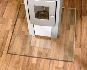Podkladové sklo pod kamna 120 x 100 cm tl. 8 mm Lienbacher odborný prodejce levně!