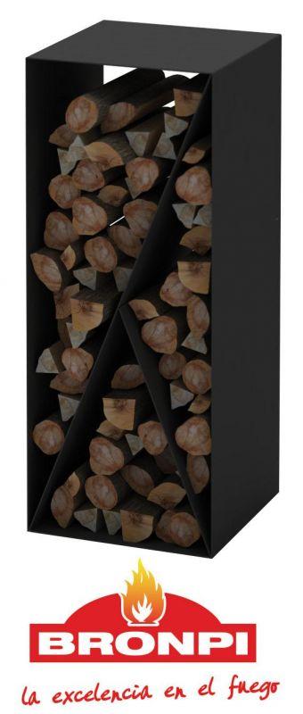 Úložný box na dřevo Bronpi černý odborný prodejce levně!