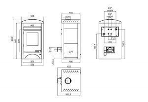 Krbová kamna AQUAFLAM VARIO ® BARMA 11/5kW Javor, elektronická regulace odborný prodejce levně!