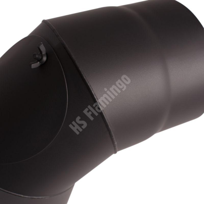 Koleno 90*/130mm/1,5mm s čistícím otvorem odborný prodejce levně!