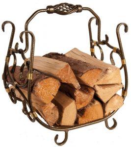 Koš na dřevo MOSAZNÝ odborný prodejce levně!