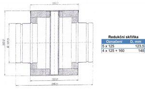 Rozbočovací skříňka 160/4x125 mm (krychle), pozink odborný prodejce levně!