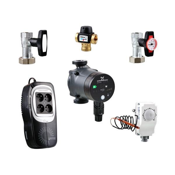 Čerpadlo Grundfos ALPHA2 + záložní zdroj ELSTON EKO s termostatem + ESBE ventil (SET) odborný prodejce levně!