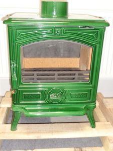 Franco Belge Montfort Classic zelená - kamna litinová