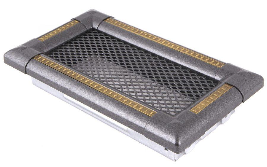 Krbová mřížka 10x20cm EXCLUSIVE grafit / mosaz - patina odborný prodejce levně!