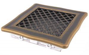 Krbová mřížka 16x16cm DECO zlato - patina odborný prodejce levně!