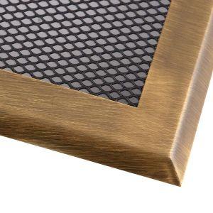 Krbová mřížka 16x16cm mosaz - patina odborný prodejce levně!