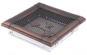 Krbová mřížka 16x16cm RETRO měd - patina odborný prodejce levně!