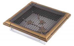 Krbová mřížka 16x16cm RETRO zlato - patina odborný prodejce levně!