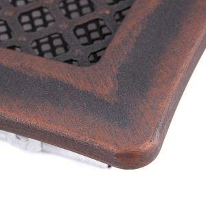 Krbová mřížka 16x16cm s žaluzií DECO měd - patina odborný prodejce levně!