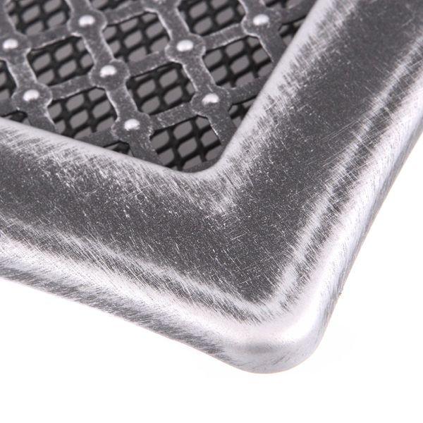 Krbová mřížka 16x16cm s žaluzií DECO stříbro - patina odborný prodejce levně!