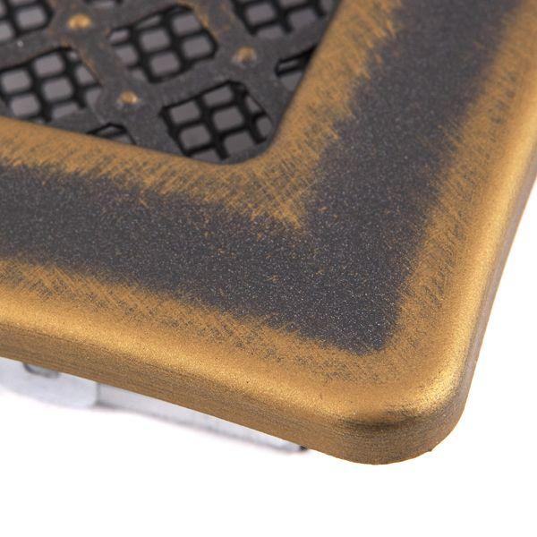 Krbová mřížka 16x16cm s žaluzií DECO zlato - patina odborný prodejce levně!