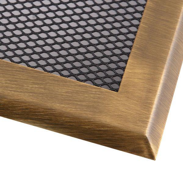 Krbová mřížka 16x16cm s žaluzií mosaz - patina odborný prodejce levně!