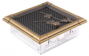 Krbová mřížka 16x16cm s žaluzií RETRO zlato - patina odborný prodejce levně!