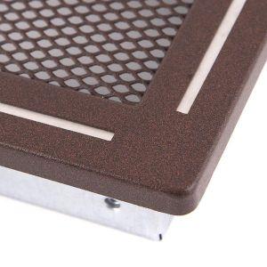 Krbová mřížka 16x16cm s žaluzií TREND hnědý brokát odborný prodejce levně!