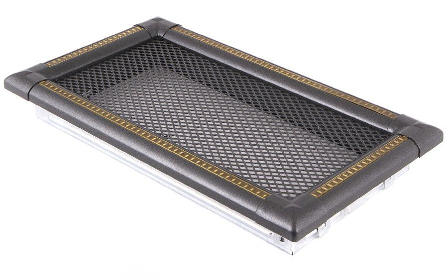 Krbová mřížka 16x32cm EXCLUSIVE grafit / mosaz - patina odborný prodejce levně!