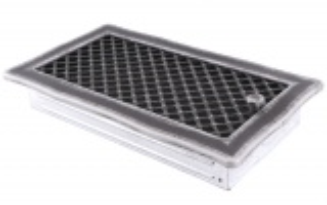 Krbová mřížka 16x32cm s žaluzií DECO stříbro - patina odborný prodejce levně!