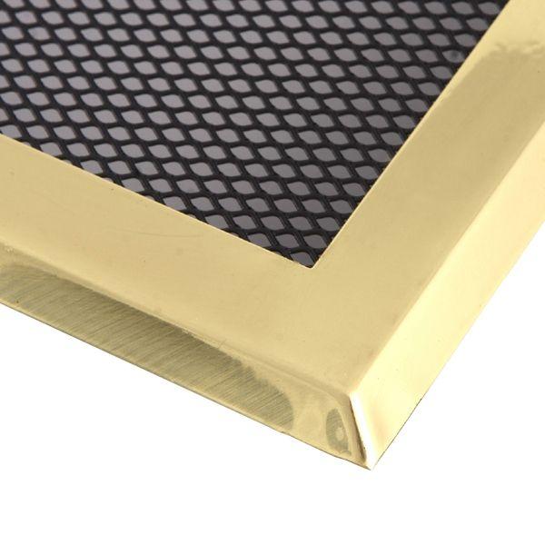 Krbová mřížka 16x32cm s žaluzií mosaz odborný prodejce levně!