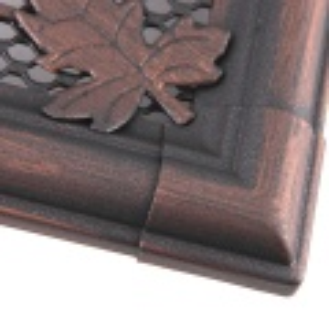 Krbová mřížka 16x32cm s žaluzií RETRO měd - patina odborný prodejce levně!
