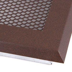 Krbová mřížka16x16cm s žaluzií hnědý brokát odborný prodejce levně!