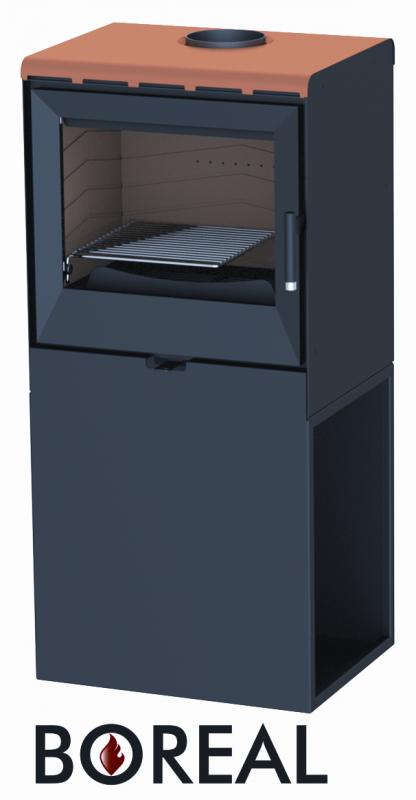 Boreal E3000 oranžová - kamna krbová odborný prodejce levně!